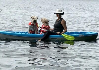 The Malones go kayaking